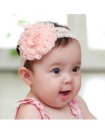 Sweet Baby Girls Lace Headbands with big flower (3 colours)